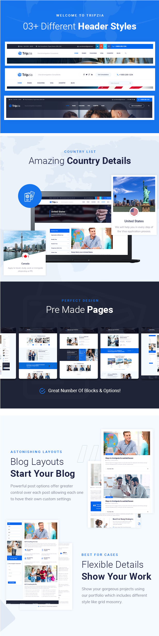 Tripzia - Visa And Immigration Html5 Template